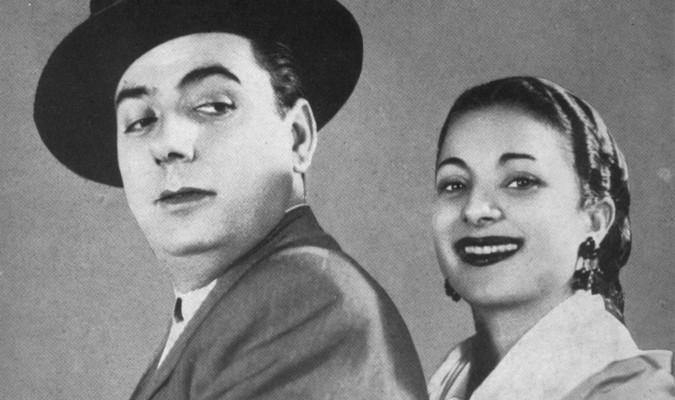 Manolo Caracol y Lola Flores.