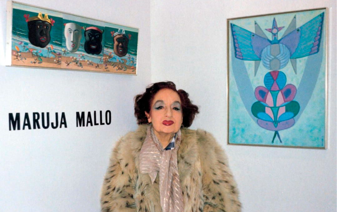 Maruja Mallo en la feria de arte ARCO.