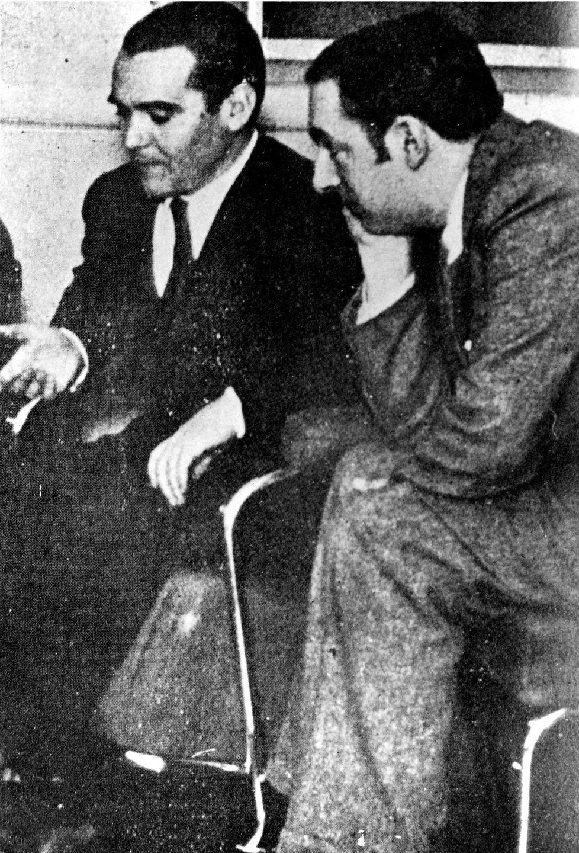 Pablo Neruda y Federico García Lorca.