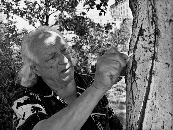 Rafael Alberti. Foto de Ricardo Martín, 1981.