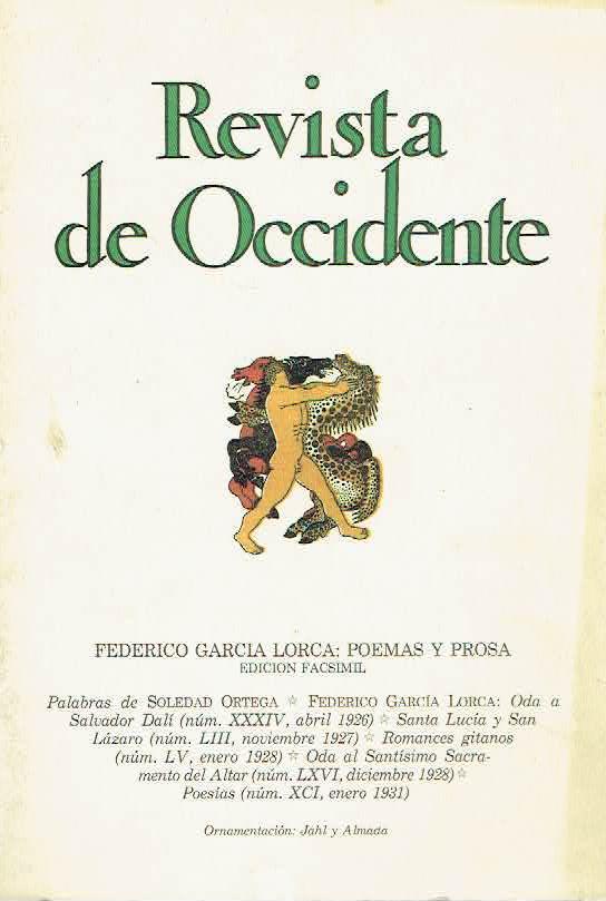 Número de la 'Revista de Occidente' en el que Federico García Lorca publicó su 'Oda a Salvador Dalí'.