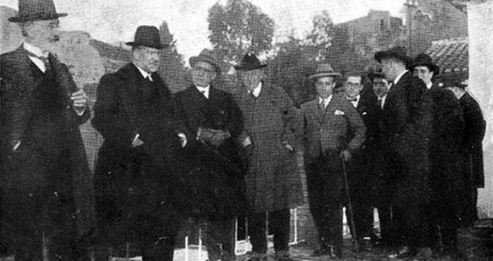 Viaje de Pío Baroja a Granada con Ortega y Gasset y Domingo Barnés. / Foto: Ideal