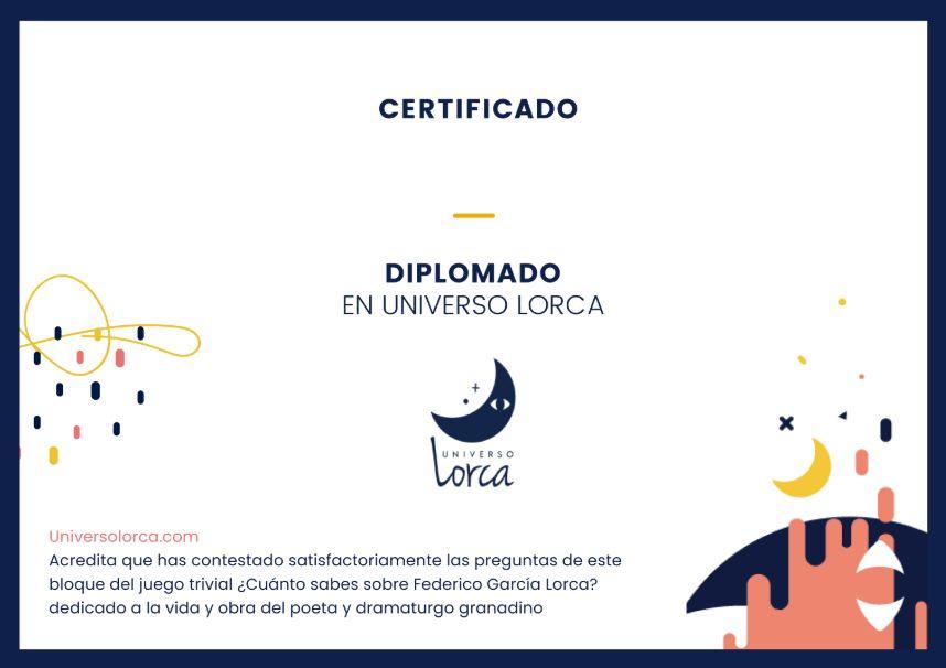 Certificado ¿Cuánto sabes de Lorca?