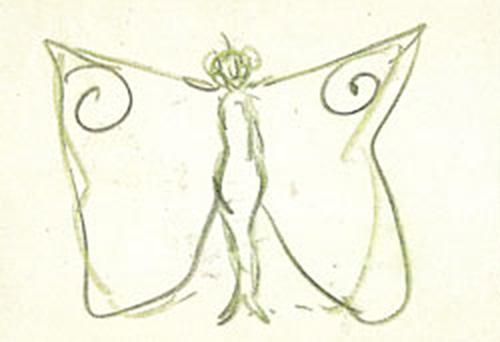 Rafael Barradas. Figurín para El Maleficio de la Mariposa. 1920. Foto: Huerta de San Vicente