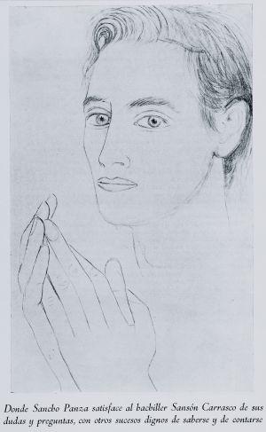 Ramírez de Lucas con 18 años, dibujado por Gregorio Prieto.