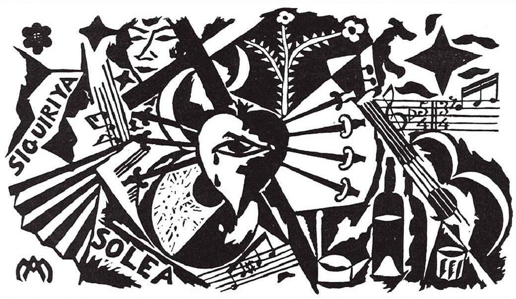 Cartel del Concurso de Cante Jondo de 1922