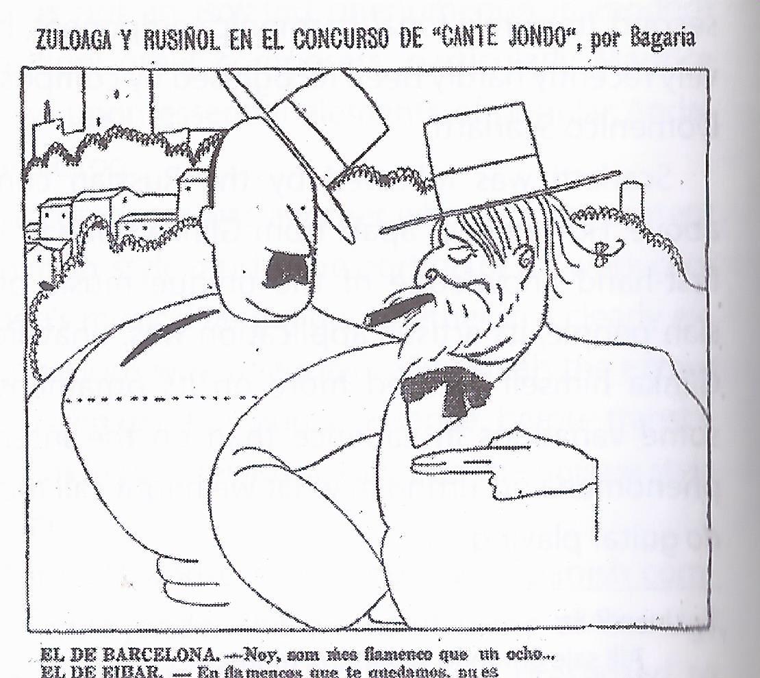 Zuloaga y Rusiñol, por Bagaría (21-6-1922)