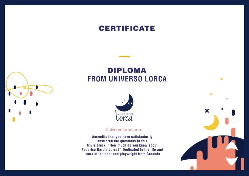 Certificate How much do you know about Lorca?